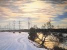 Flusslandschaft Winter